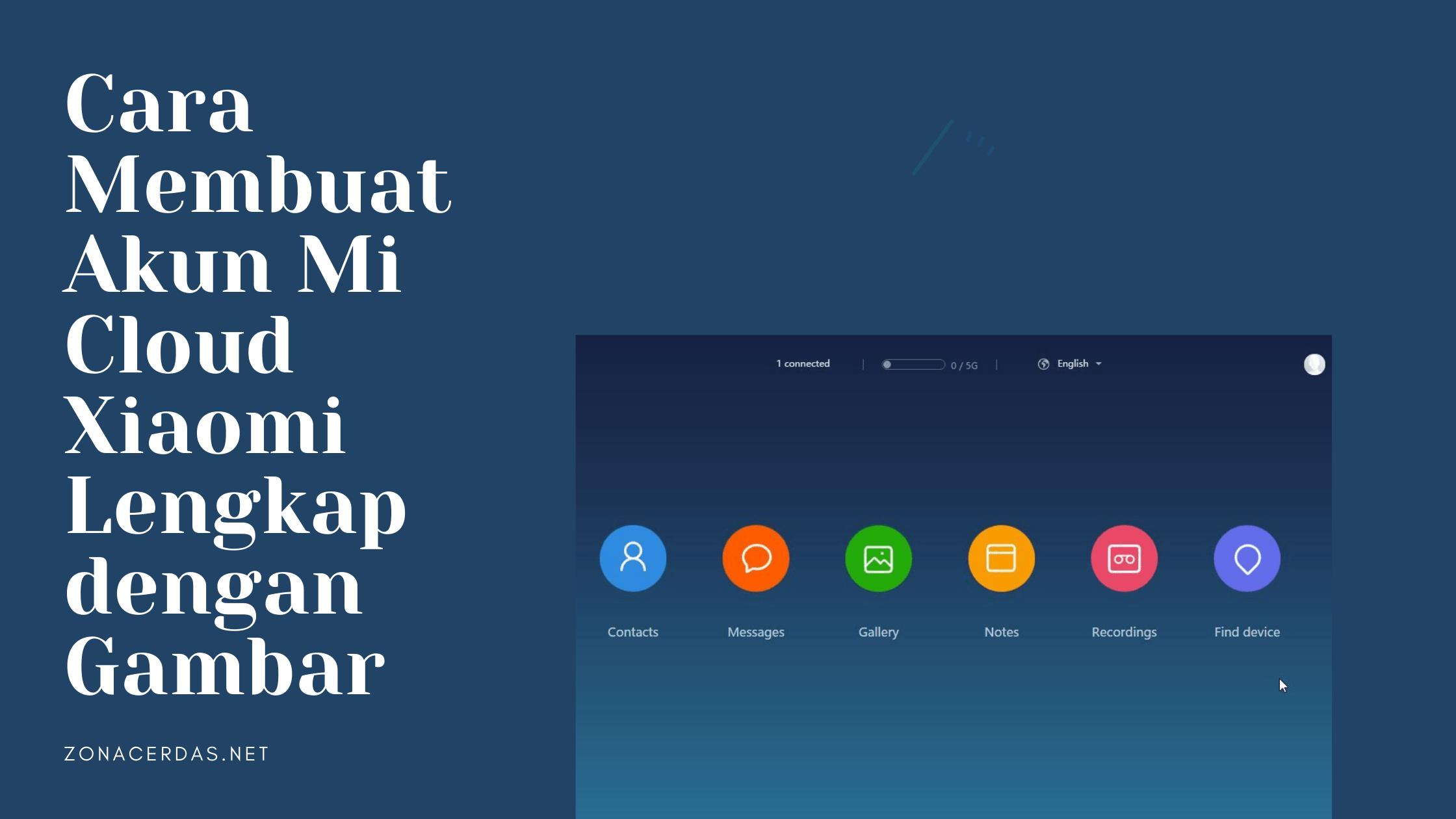 Cara Membuat Akun Mi Cloud Xiaomi Lengkap dengan Gambar