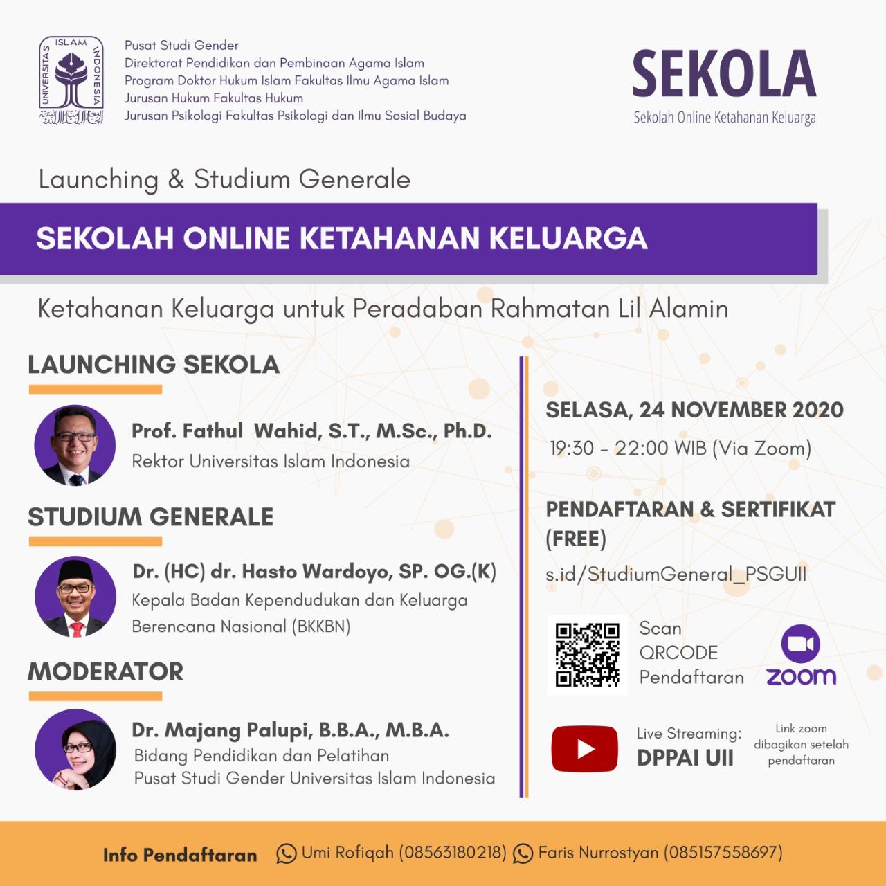 Universitas Islam Indonesia, UII Lauching Sekolah Online